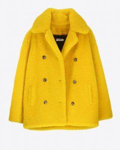 Manteau jaune poussin Roseanna, sur lagrandeboutique.net